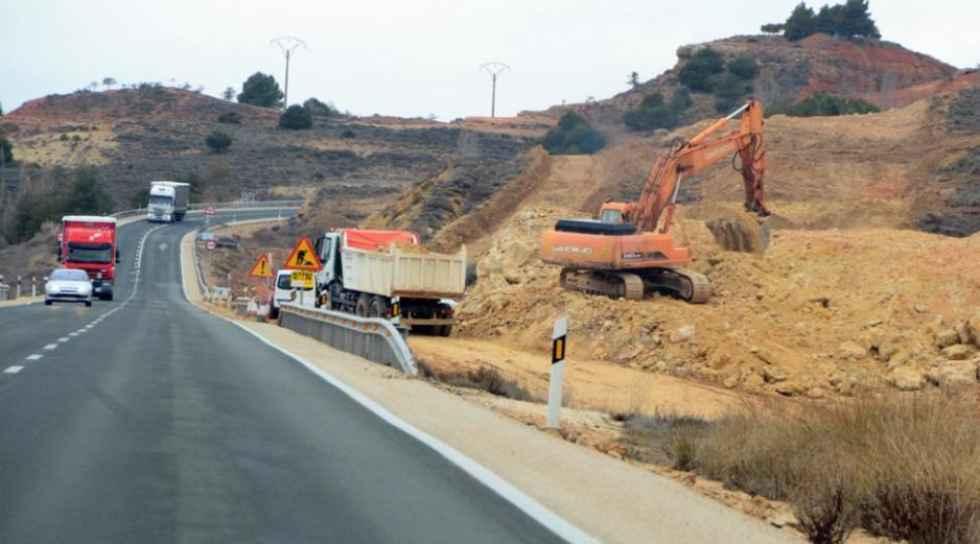 Desvío provisional en N-122, en Langa de Duero, por obras en A-11