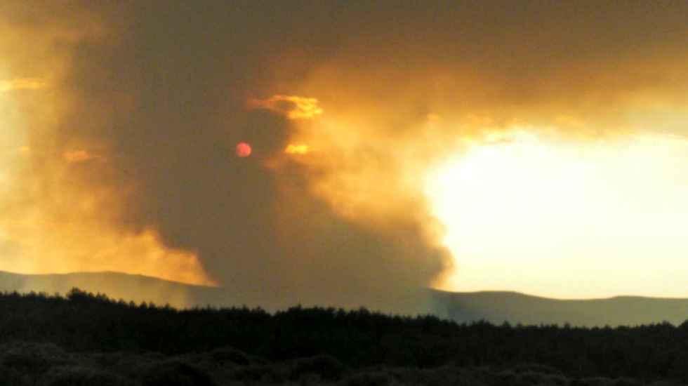 La BRIF de Lubia, desplegada en el incendio de Segovia