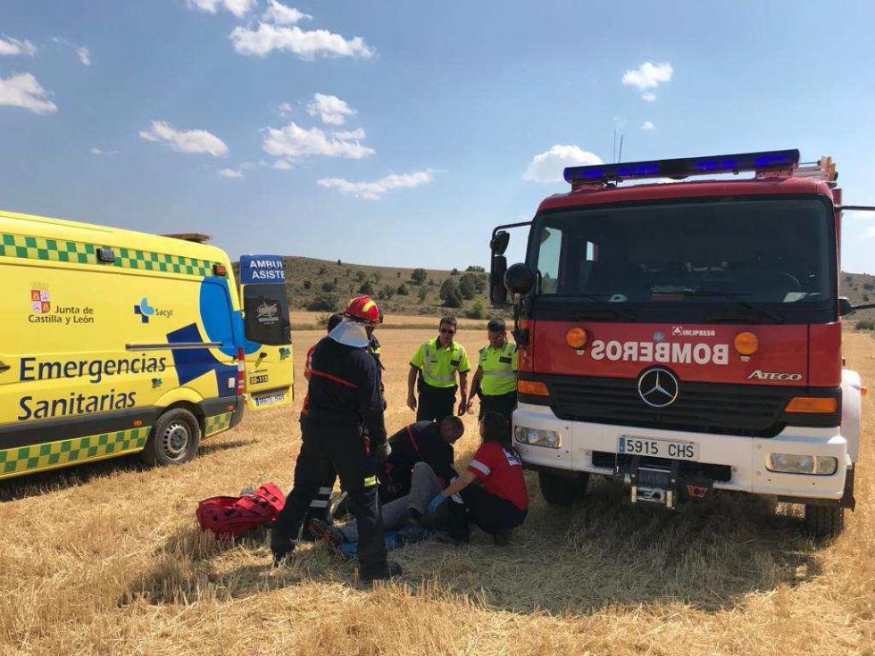 Herido el piloto de un parapente en caída en aterrizaje en Ines