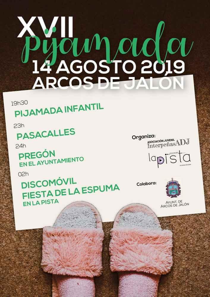 """Arcos de Jalón celebra la XVII edición de su """"Pijamada"""""""