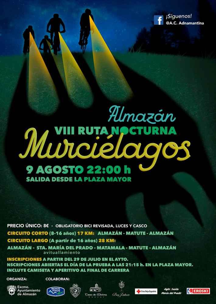 Almazán organiza la VIII Ruta Nocturna Murciélagos