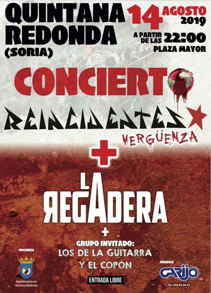 Concierto de Reincidentes en las fiestas de Quintana Redonda