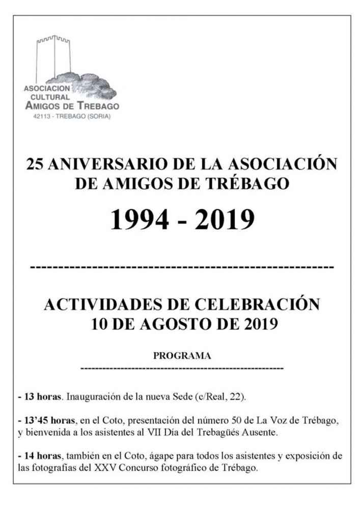 La Asociación de Amigos de Trébago celebra su 25 aniversario