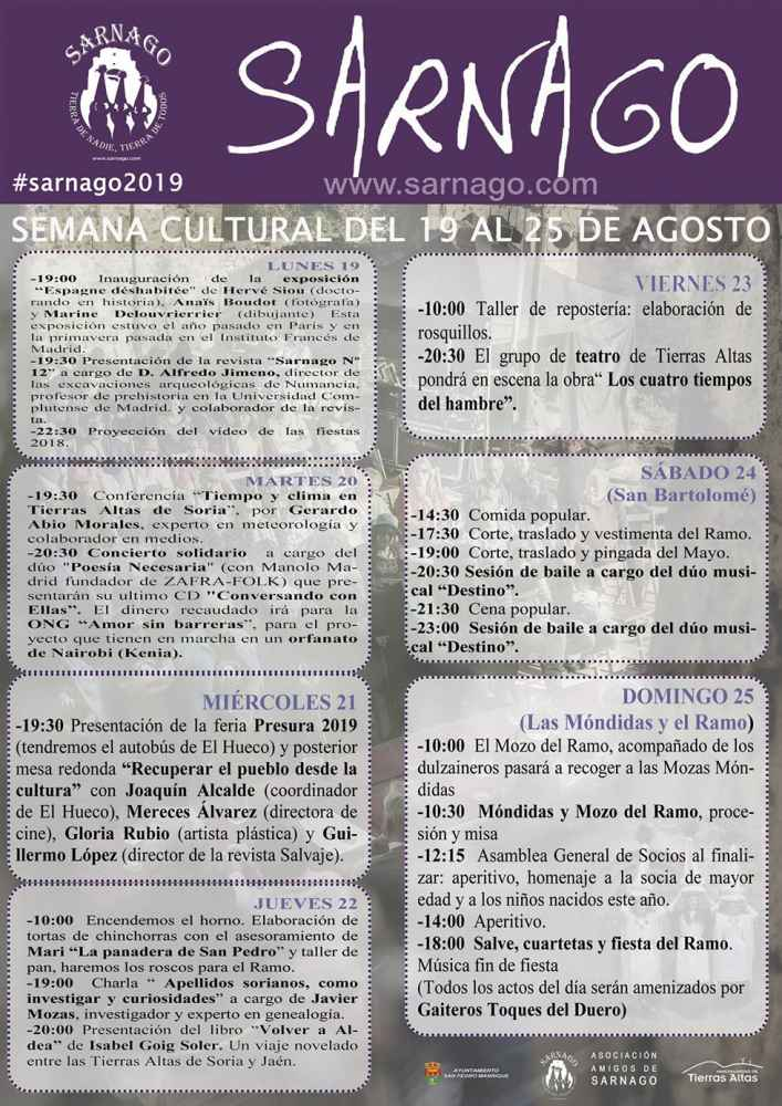 Sarnago organiza su semana cultural