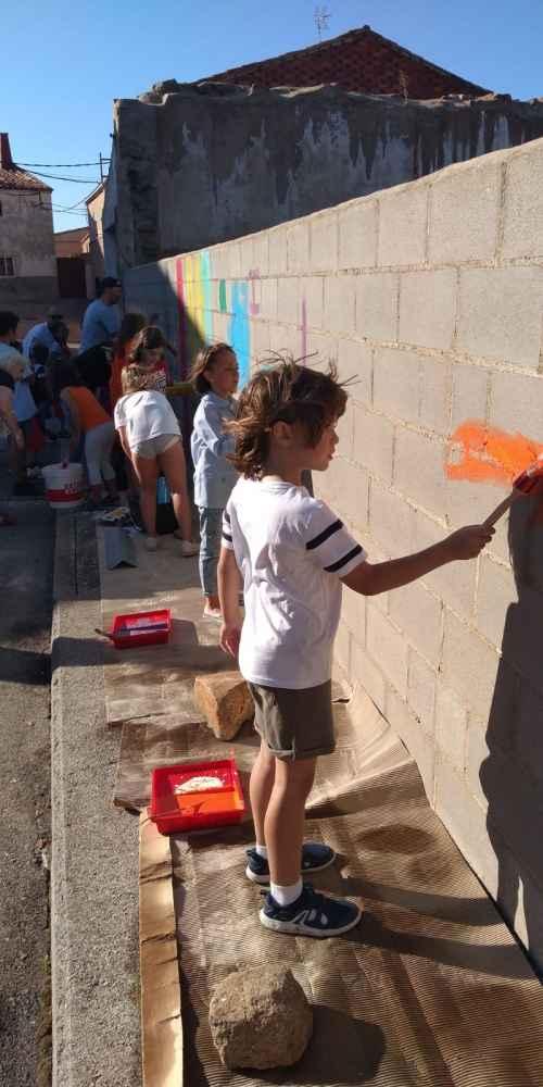 Noviercas dedica un mural a Gustavo Adolfo Bécquer