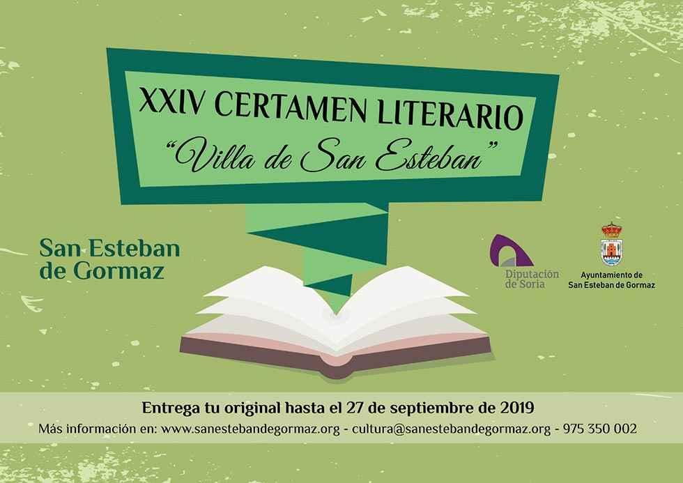 "Bases para el XXIV Certamen literario ""Villa de San Esteban"""