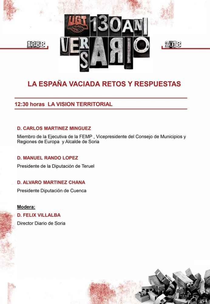 """Programa de la jornada """"La España Vaciada, Retos y Respuestas"""""""