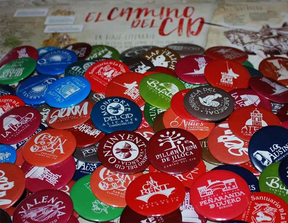 El Camino del Cid cebra 500 puntos de sellado con colección de chapas