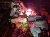 Los bomberos retiran un enjambre en colegio público de Almazán