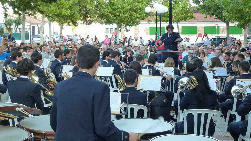 Programa del concierto de la Banda Municipal en Los Pajaritos