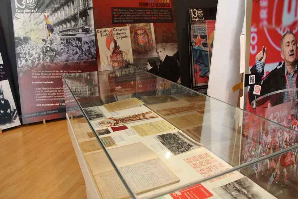 """Exposición sobre los """"130 años de luchas y conquistas"""" de UGT"""