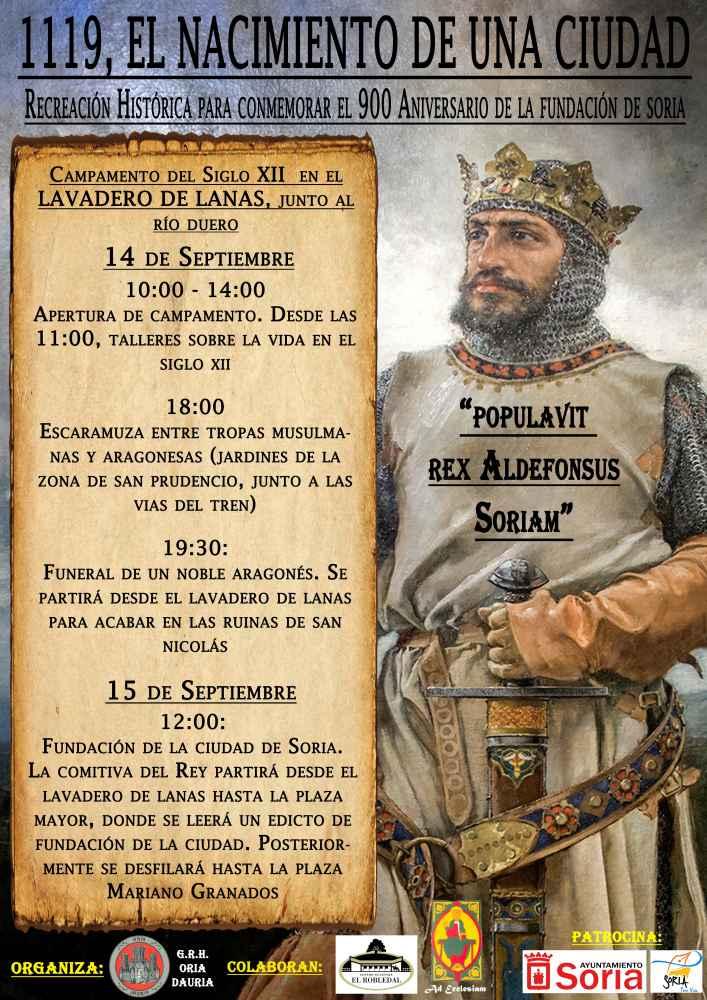 Una recreación histórica para recordar 900 años de la fundación de Soria