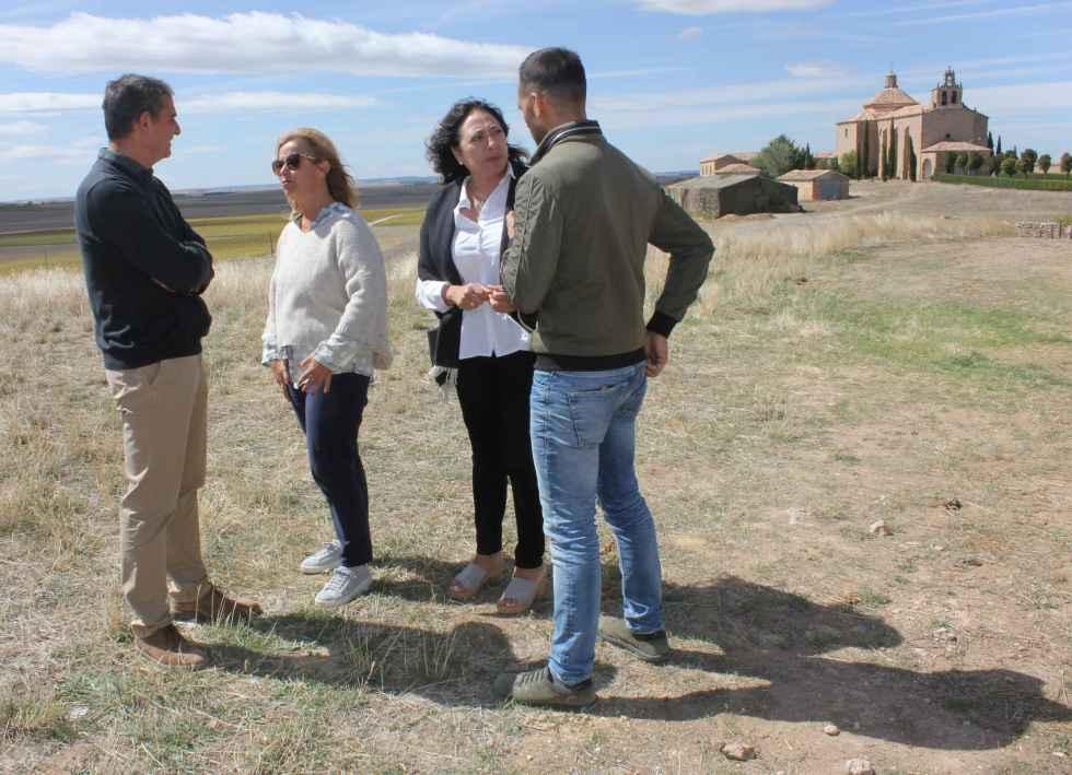 """Visita al rodaje de la serie """"El Cid"""" en Almenar de Soria"""