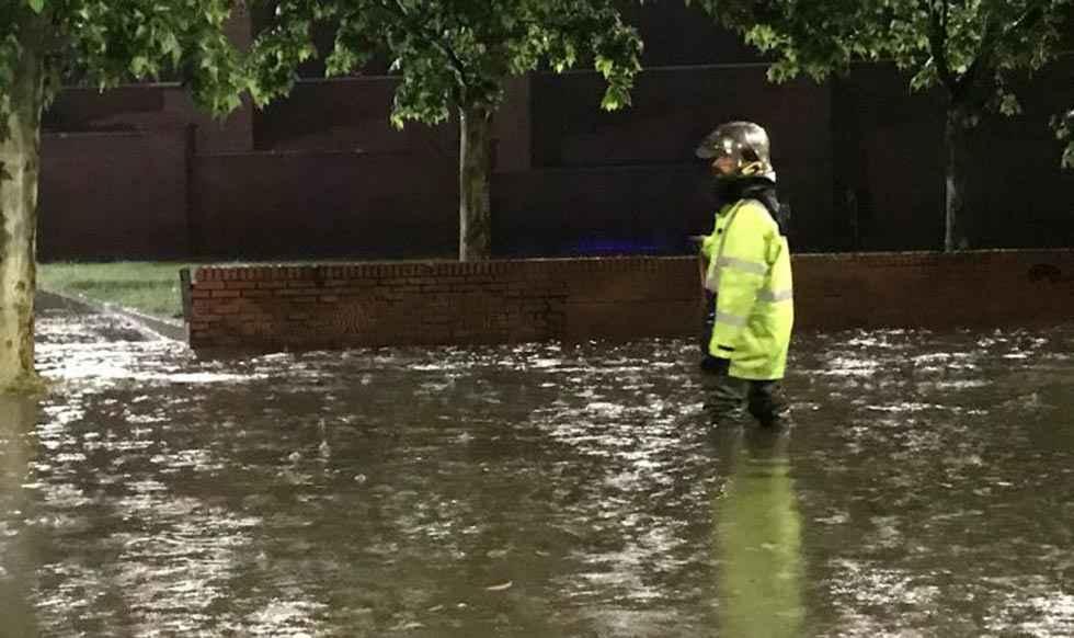 El 1-1-2 gestiona 150 avisos por inundaciones en Valladolid
