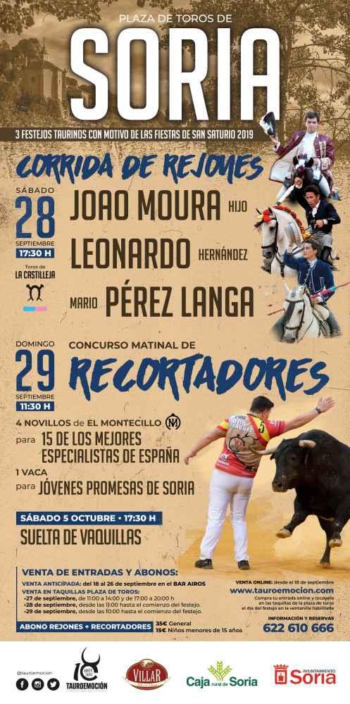 Tauroemoción programa tres festejos taurinos para San Saturio