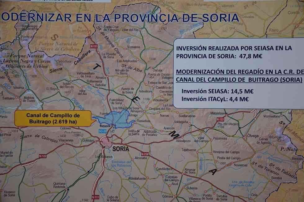 Firma del convenio para modernizar el regadío del Campillo de Buitrago