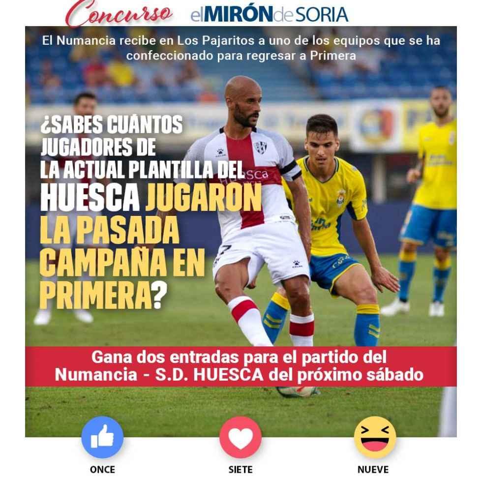 Gana dos entradas para ver el Numancia-Huesca