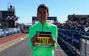 Marcón de Dani Mateo en la Great North Run