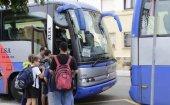 Casi la mitad de las rutas de transporte escolar son compartidas