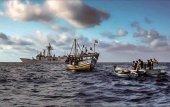Exposición sobre el trabajo de Fuerzas Armadas contra piratería