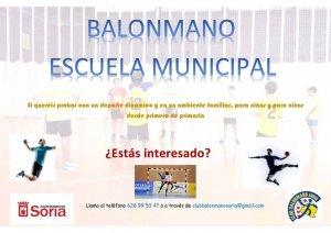 Comienza la escuela municipal de balonmano