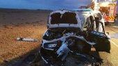 Tres heridos, dos de ellos guardias civiles, en choque frontal  de vehículos en Valladolid