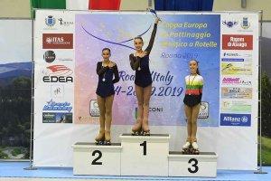 Ángela Díez, campeona infantil de patinaje artístico de la Copa de Europa