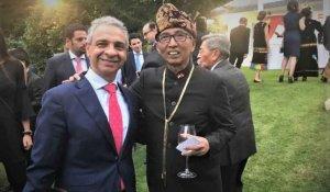 El Numancia, en la recepción del embajador de Indonesia