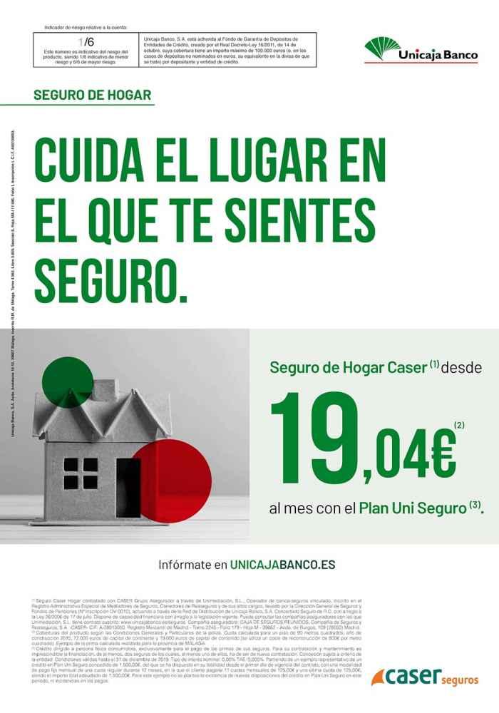 Unicaja Banco lanza una campaña de seguros de hogar