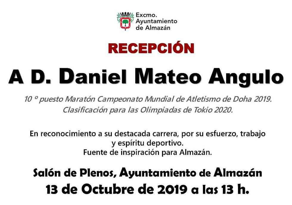 Recepción oficial a Dani Mateo en el Ayuntamiento de Almazán