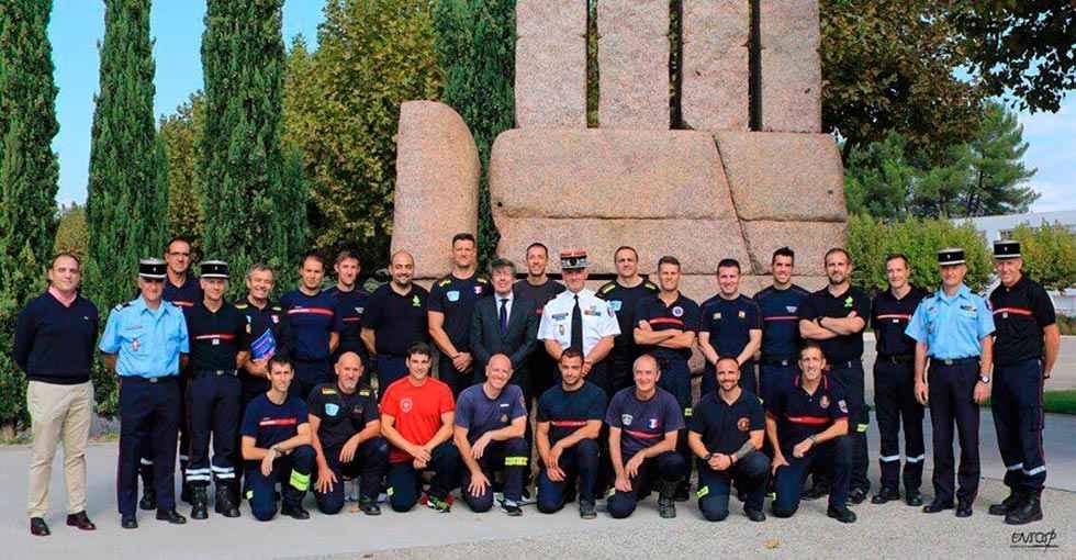 Los bomberos reciben formación especializada en Marsella