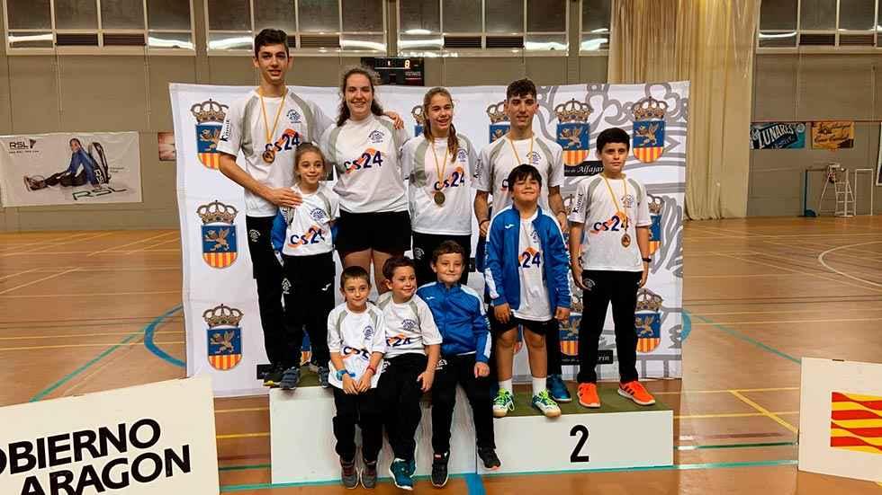 Ocho medallas para el Club Bádminton Soria