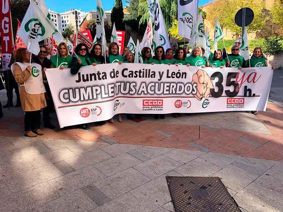 El paro parcial secundado por 55 por ciento de empleados de la Junta