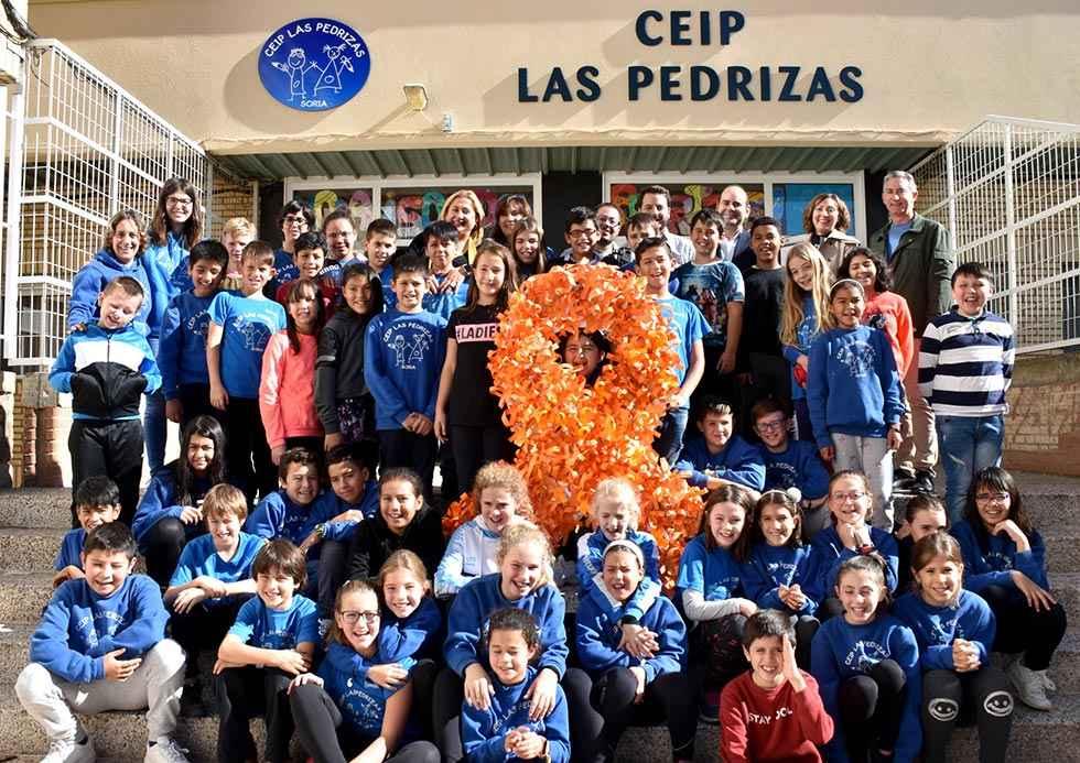 Los alumnos de Las Pedrizas apoyan a Iván, enfermo de leucemia