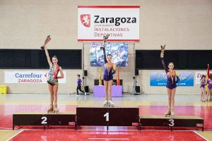 Angela Díez, subcampeona de España infantil de patinaje artístico