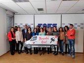 La furgoneta 'Mercedes Ven' de Alzheimer Soria llega a FOES