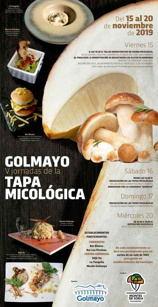 Golmayo organiza sus V jornadas de la Tapa Micológica