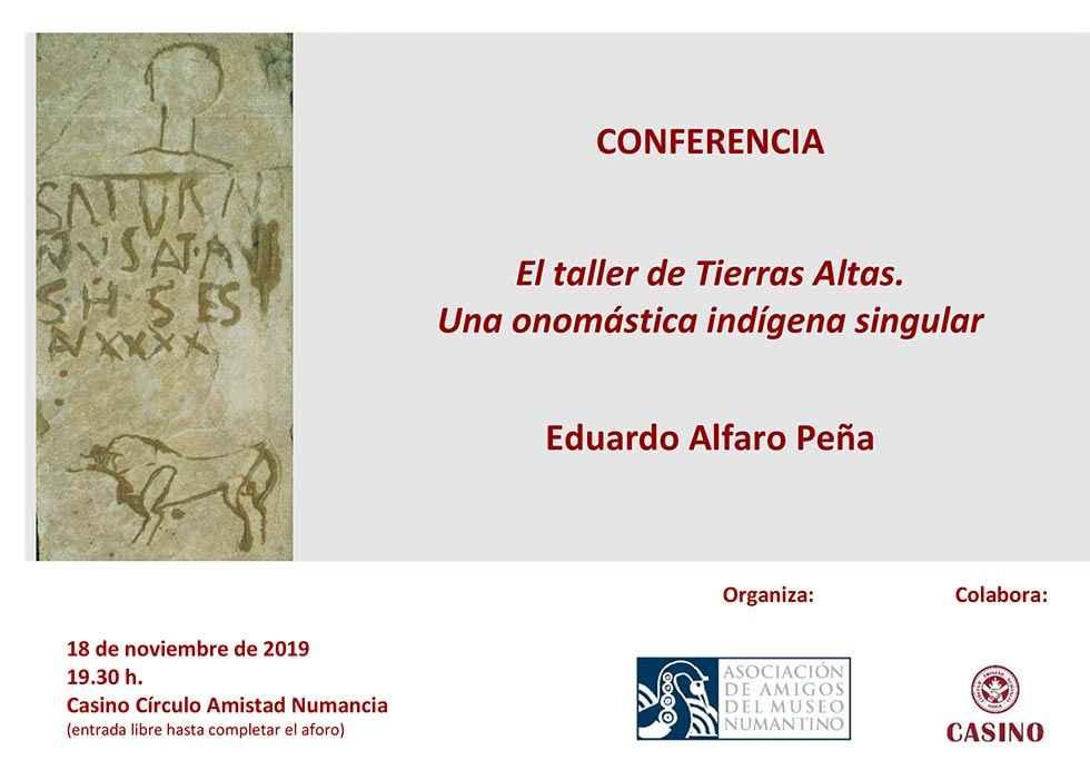 Conferencia sobre una onomástica indígena singular en Tierras Altas