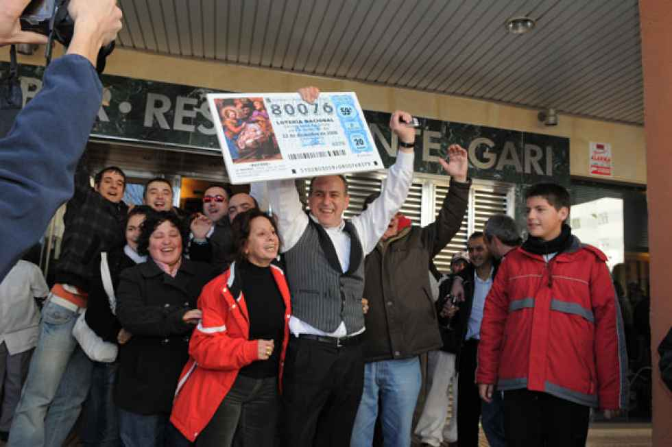Soria lidera la consignación por habitante de lotería de Navidad