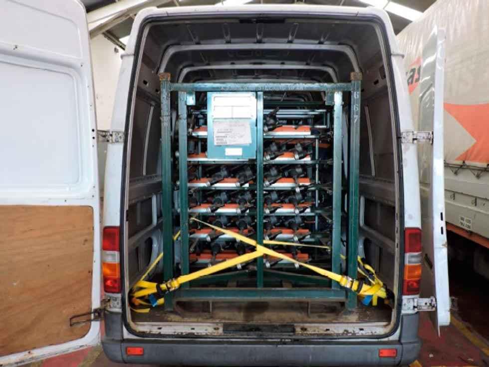 Recuperadas 29 piezas de la marca Land Rover