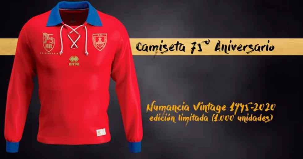 Una camiseta de coleccionista para el 75 aniversario del Numancia