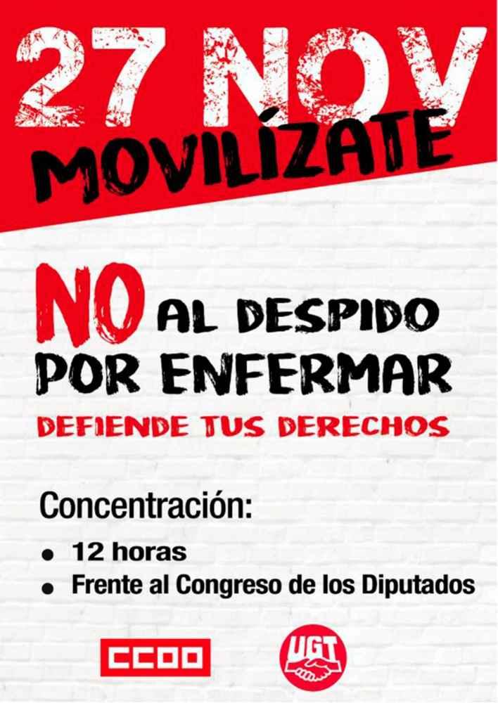 Los sindicatos protestan por sentencia del Tribunal Constitucional