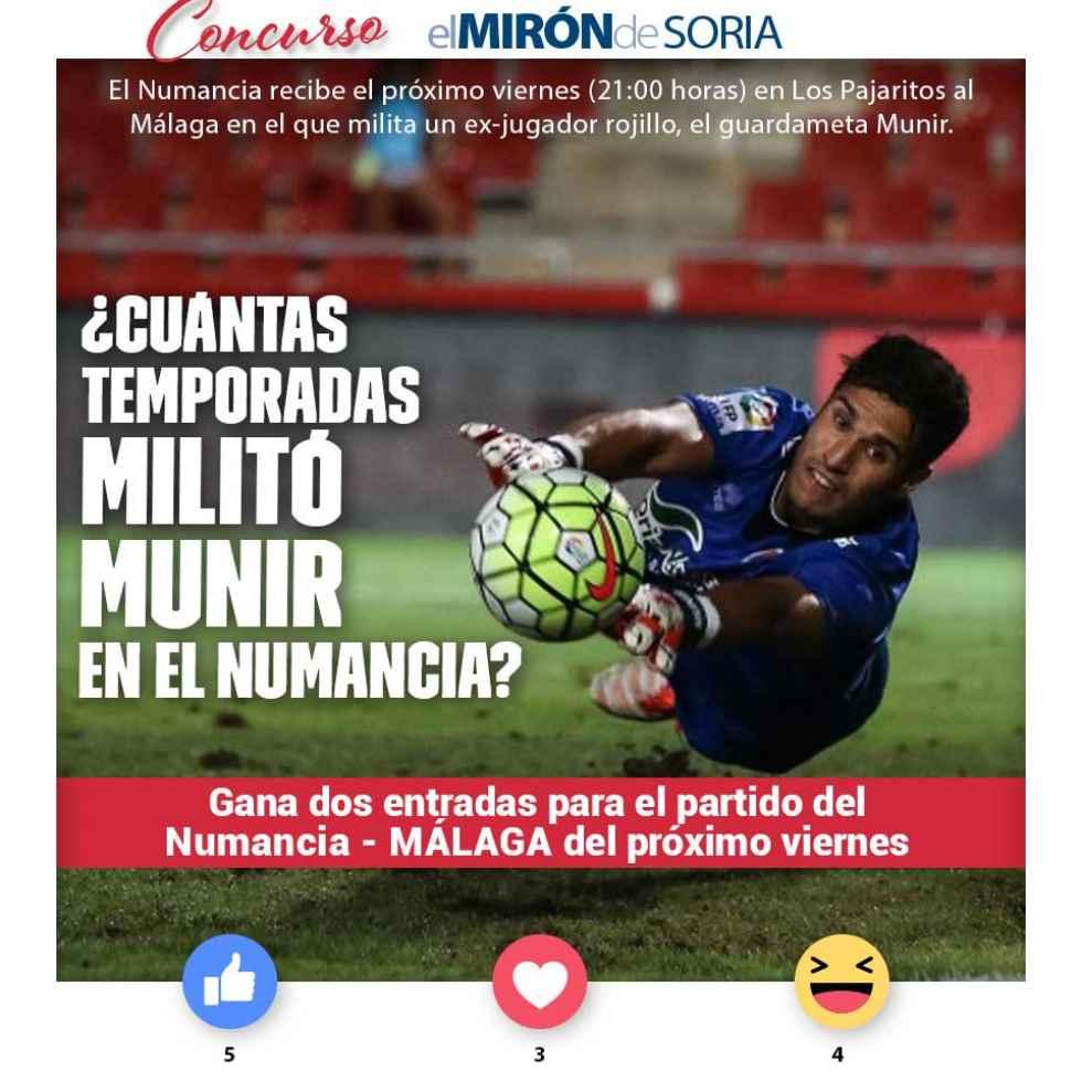 Gana dos entradas para ver el Numancia-Málaga