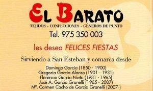 """""""El Barato"""": emblema del comercio tradicional sanestebeño"""