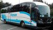 Estreno del nuevo servicio de transporte Pamplona-Soria