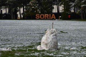 Soria: primeros copos de nieve - fotos