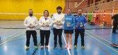 Seis medallas del bádminton soriano en Cerdanyola