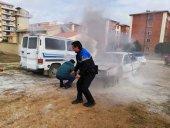 Los nuevos Policias Locales se forman para combatir incendios