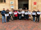 Concentración de CSIF para denunciar la violencia de género