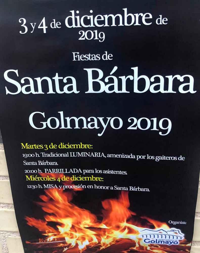 Golmayo enciende la luminaria de Santa Bárbara
